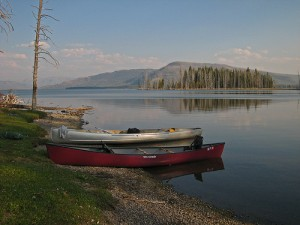 7976775214_f8fa12477b Canoes on Yellowstone Lake